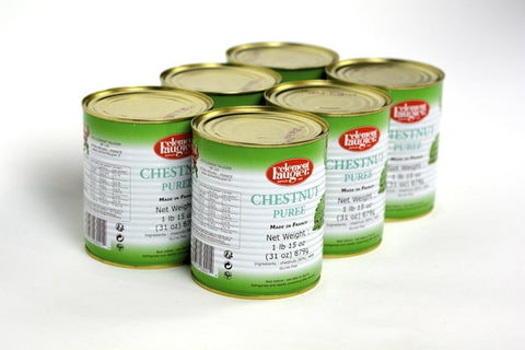 Clement Faugier Chestnut Puree 31Oz Tins Case of 6 Units - Multipack