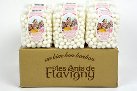 Les Anis de Flavigny Rose Drops Bag - French Hard Candy - 8.8oz Case of 10 Units - Wholesale