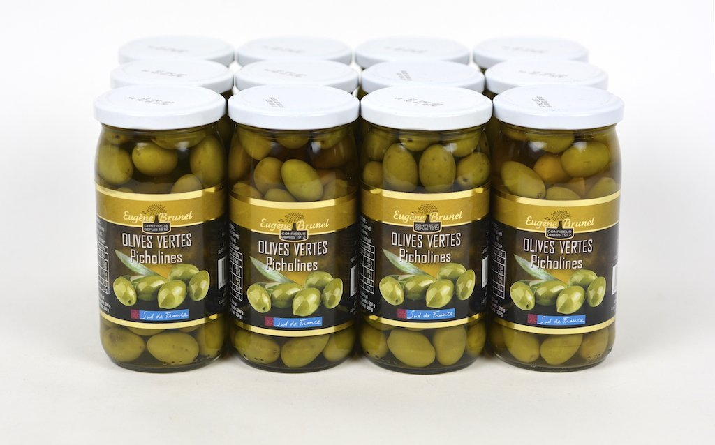 Picholine French Provence Gourmet Green Olives Case of 12 Units- Wholesale