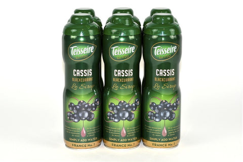 Teisseire Black Currant (Cassis) French Syrup 60cl Case of 6 Units - Multipack