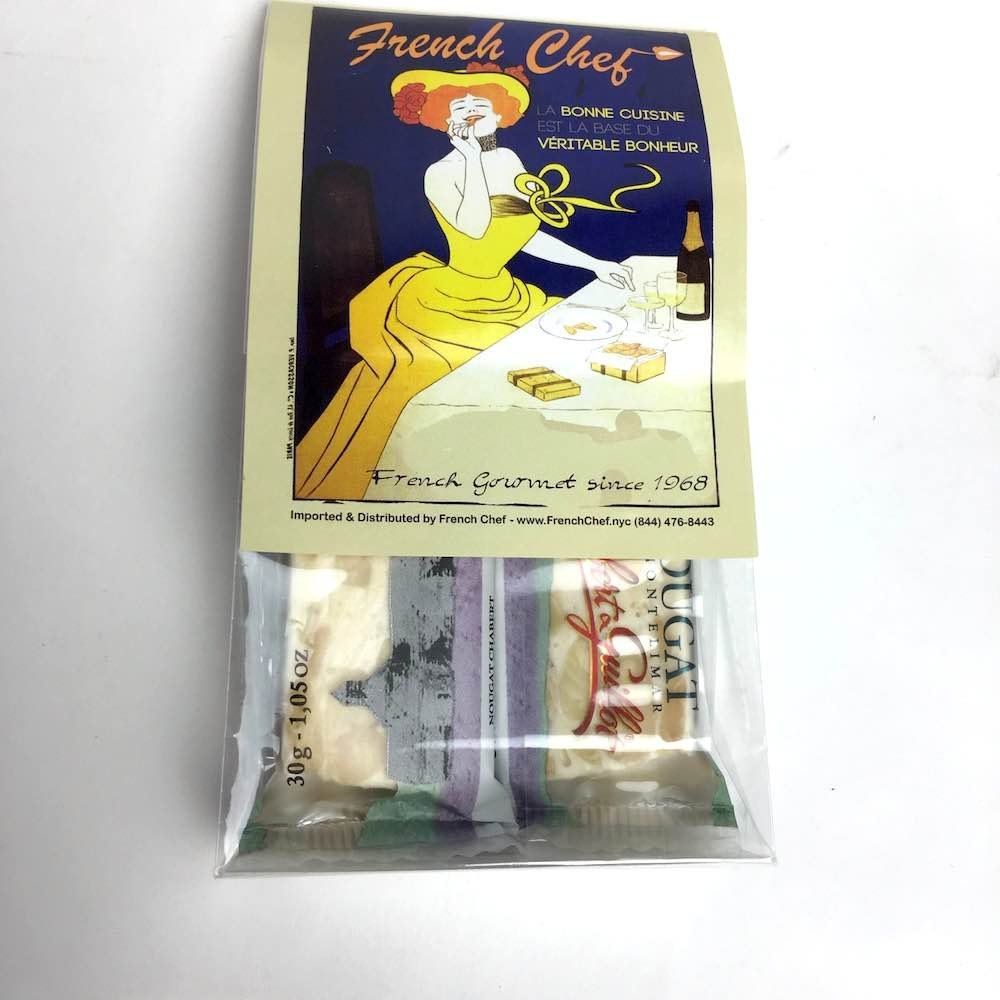 Les Anis de Flavigny Violet Drops Bag - French Hard Candy - 8.8oz Case of 10 Units - Wholesale