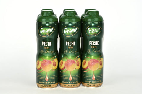 Teisseire Peach French Syrup 60cl Case of 6 Units - Multipack