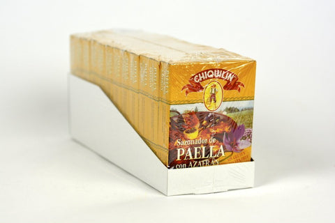 Chiquilin Paella Seasoning Sachets with Saffron Case of 12 Units - Wholesale