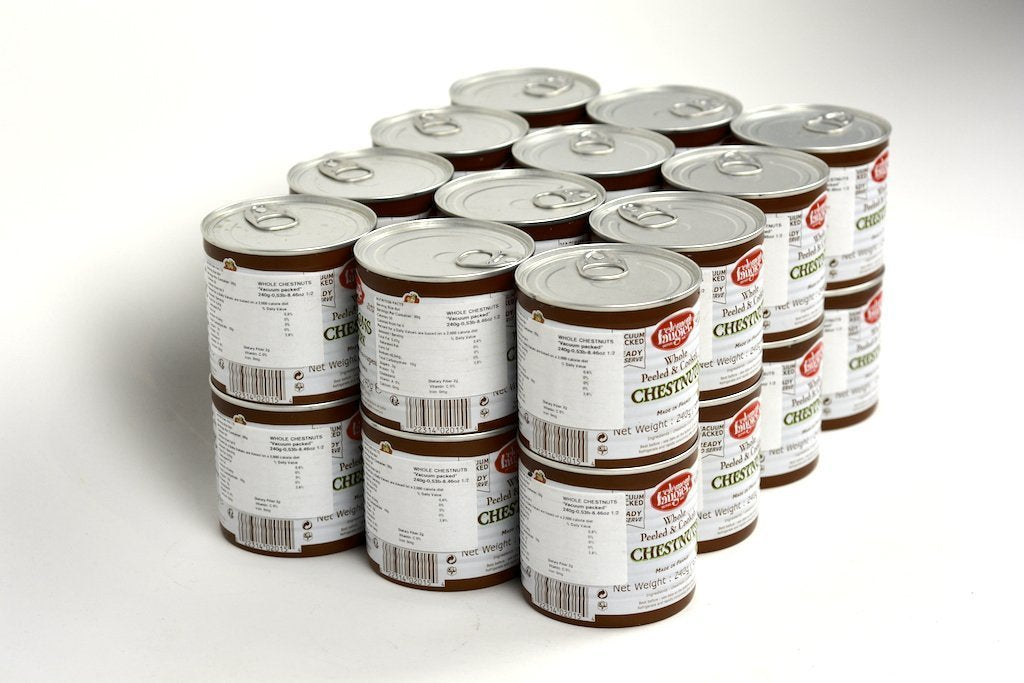 Clement Faugier Whole Peeled and Cooked French Chestnuts 10 Oz Case of 24 Units - (Wholesale prices. Sold per case only)