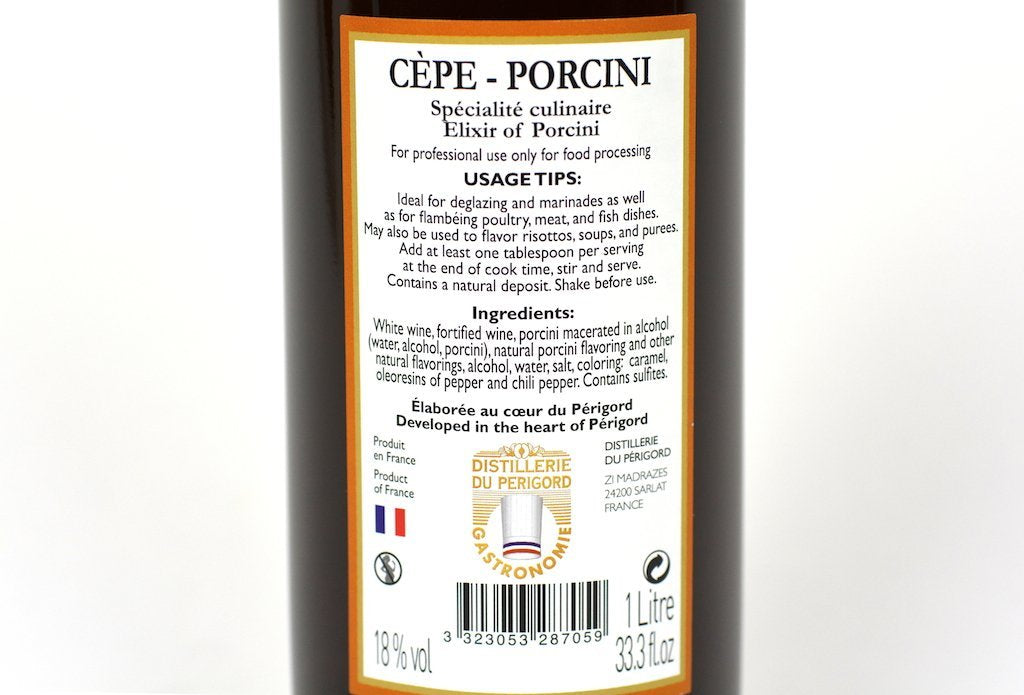 Distillerie du Perigord Elixir of Cepe Porcini 1L (33.3oz) Case of 6 Units- Multipack