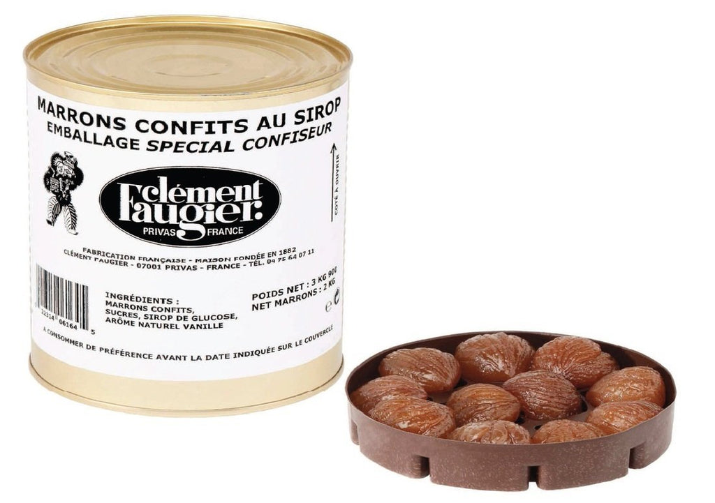 Clement Faugier Whole Candied Chestnuts in Syrup 3kg