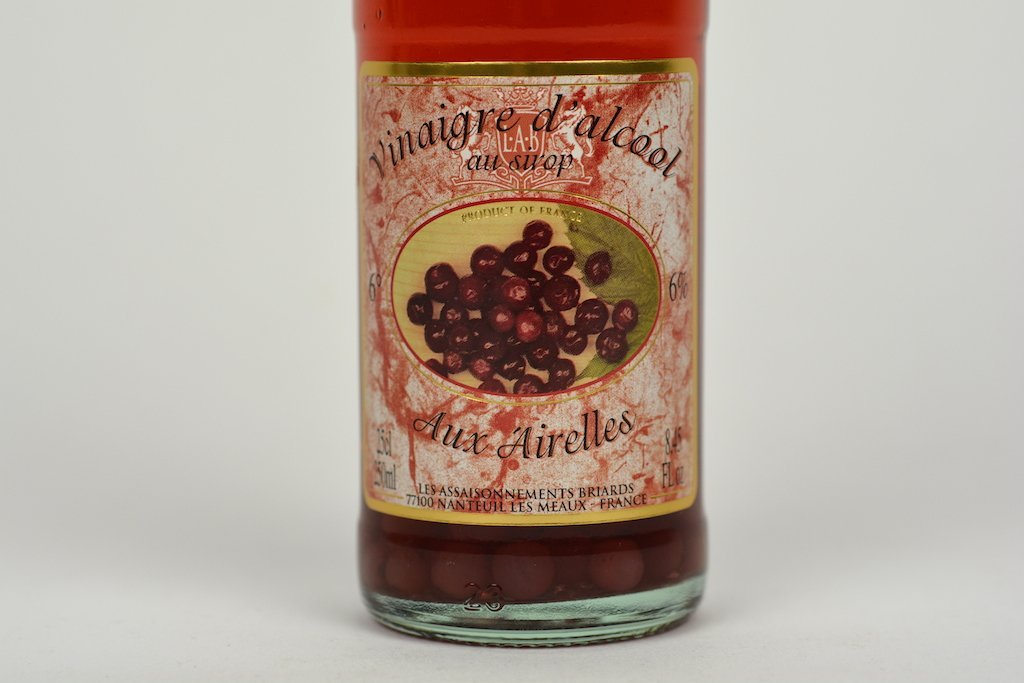 Moutarde de Meaux White Alcohol Vinegar 6% Flavored with Cranberry Syrup and Fruits 25cl Case of 6 Units - Multipack