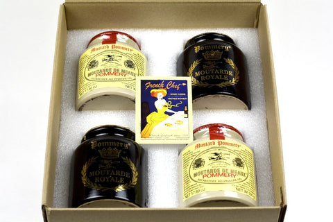 Pommery Mustard 4 Mustard Assortment Meaux Moutarde in Gift Box