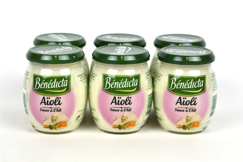 Benedicta Gourmet Creamy Garlic Sauce - Sauce Aioli - 8.5o.z(240g) Case of 6 Units - Multipack