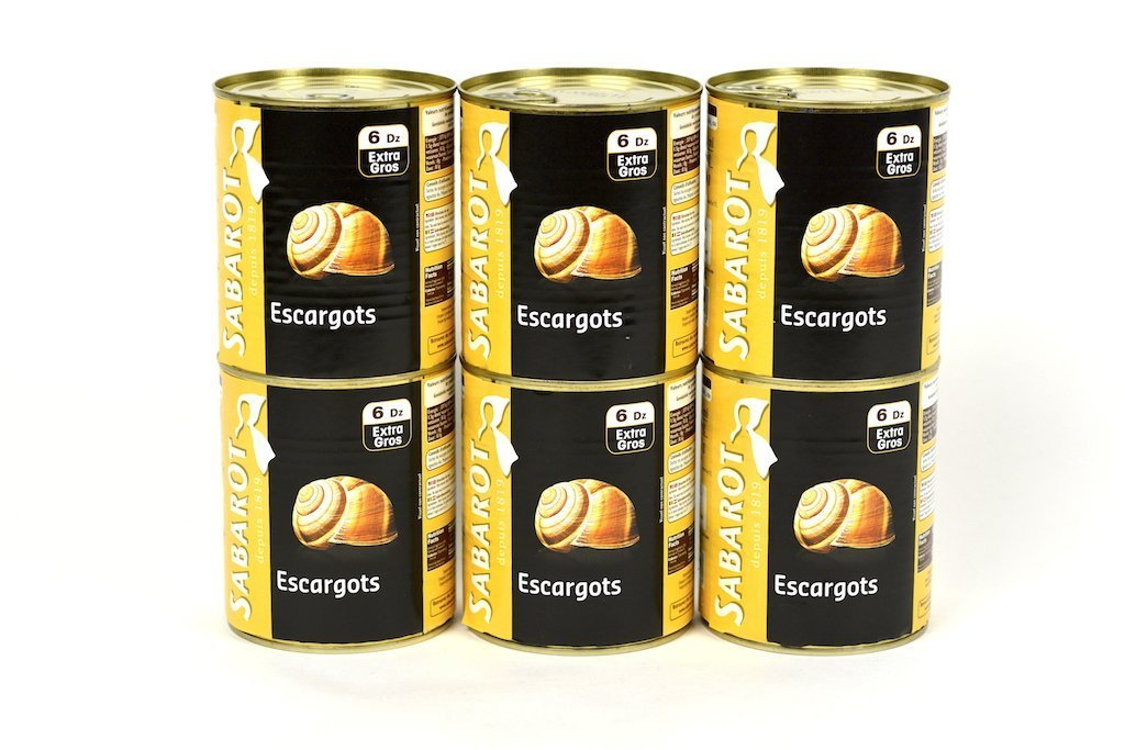 Sabarot Extra Large Escargot Snails 6 Dozen Case of 6 Units - Multipack