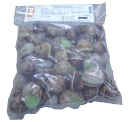 Frozen Escargots IQF Extra Large Escargots - Prepared Helix - 8 bags of 48 pcs (Wholesale prices. Sold per case only)
