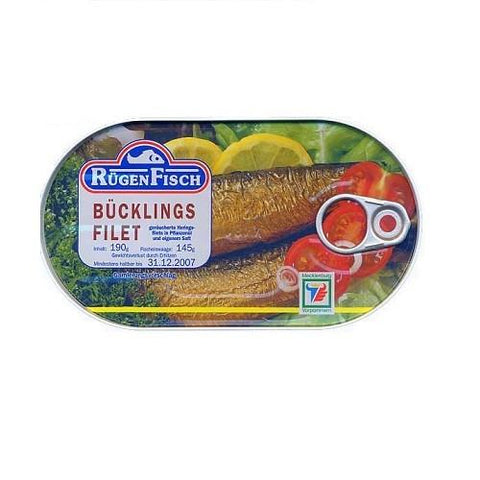 Ruegenfisch · Smoked herring fillets · 190g (6.7 oz)