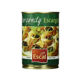 Escal French Burgundy Escargots 3 Dozen Extra Large 8.8 oz. (249g)