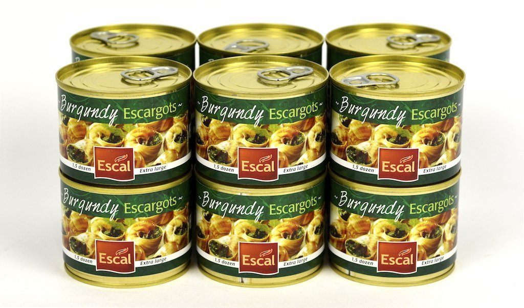 Escal French Burgundy Escargots Snails 1.5 Dozen Case of 12 Units - Wholesale