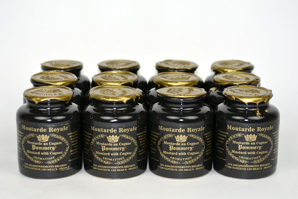 Royal Mustard Pommery Mustard with Cognac in Pottery Crock 8.8oz Case of 12 Units - … Wholesale