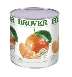 Brover Mandarin Segments in light syrup - 6 x 2.65 kg (Wholesale prices. Sold per case only)