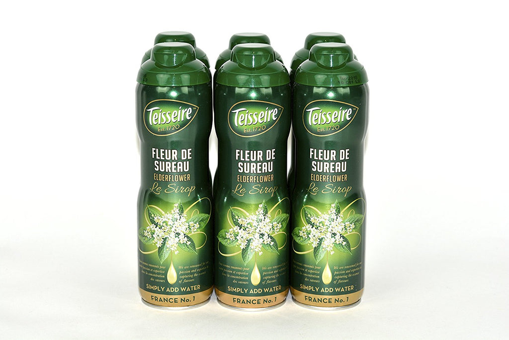 Teisseire Le Sirop Elderflower French Syrup 60cl Case of 6 Units - Multipack