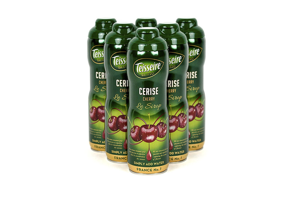 Teisseire Cherry (Cerise) French Syrup 60cl Case of 6 - Multipack