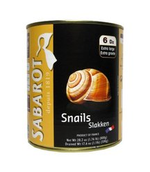 Canned Escargots Extra-large Helix Escargots - 12 x 6 doz (Wholesale prices. Sold per case only)