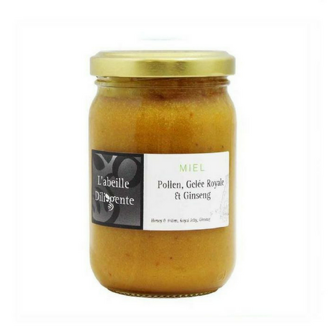 L'Abeille Diligente Honey & Royal Jelly, Pollen, Ginseng 8.8 oz. (250 g)