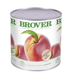 Brover Peach Halves in light syrup - 6 x 2.6 kg (Wholesale prices. Sold per case only)