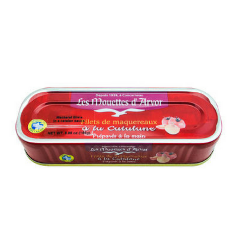 Mouettes d'Arvor Mackerel Fillets in Catalane Tomato Sauce 5.9 oz