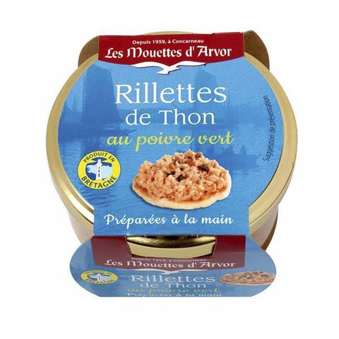Mouettes d'Arvor Tuna Rillettes with Green Peppercorn 4.4 oz