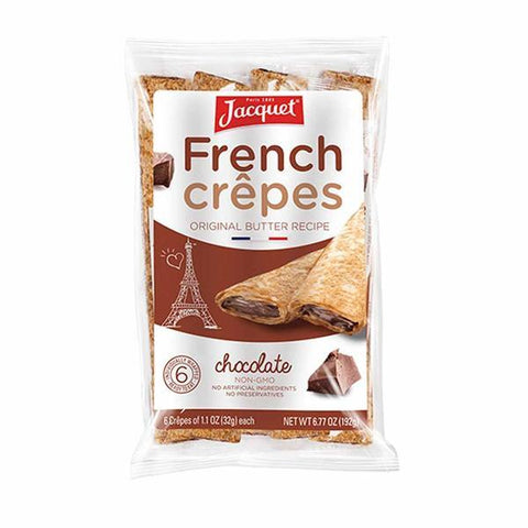 Jacquet Ready to Eat Chocolate French Crepes 6.7 oz. (192g) - 6 Crepes