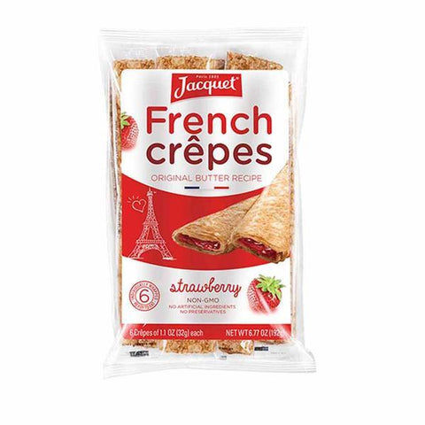 Jacquet Ready to Eat Strawberry French Crepes 6.7 oz. (192g) - 6 Crepes