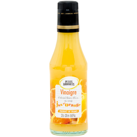 White alcohol vinegar 6° flavoured with orange syrup 25cl