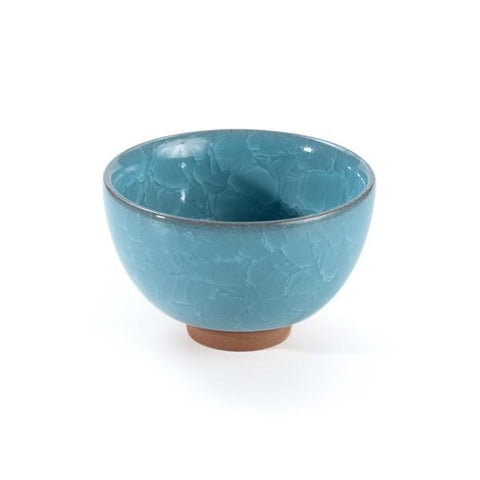 Crackle Glaze Ceramic Teacup (Blue) - Le Palais Des Thes