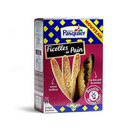 Brioche Pasquier Ficelles de Pain Sesame and Poppy Seed- French Baguette Toasts Brioche