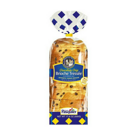 Brioche Pasquier Authentic French Sliced Chocolate Chip Brioche 17.6 oz. (500g)