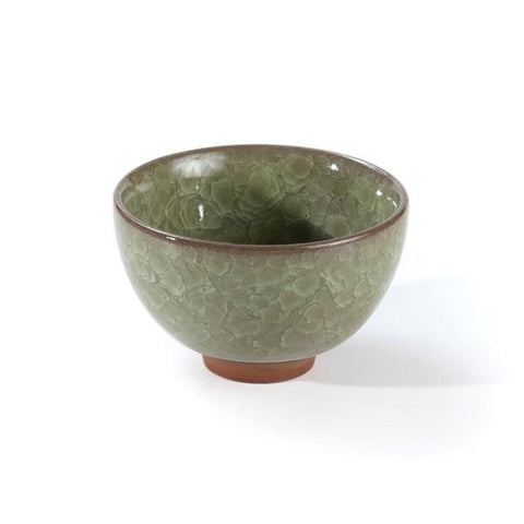 Crackle Glaze Ceramic Teacup (Jade) - Le Palais Des Thes