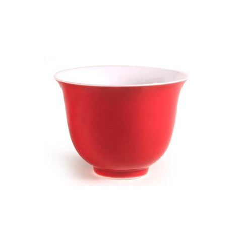 Ming Chinese Porcelain Teacup (RED) - Le Palais Des Thes