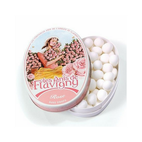 Anis de Flavigny Large Rose Pastilles Tin 6.7 oz. (189g)