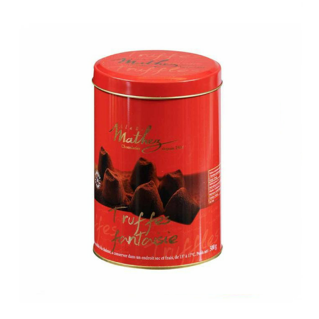 French Chocolate Truffle in Red Tin by Mathez 17.6 oz