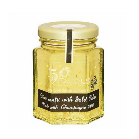 Favols Champagne Confit with Gold Flakes 3.8 oz. (110g)