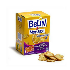 Belin Monaco French Snack Crackers with Emmental Cheese 105g - 3.7 oz