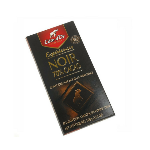 Cote D'or Dark (70%) Intense Chocolate Cocoa, 3.5-Ounce Bars