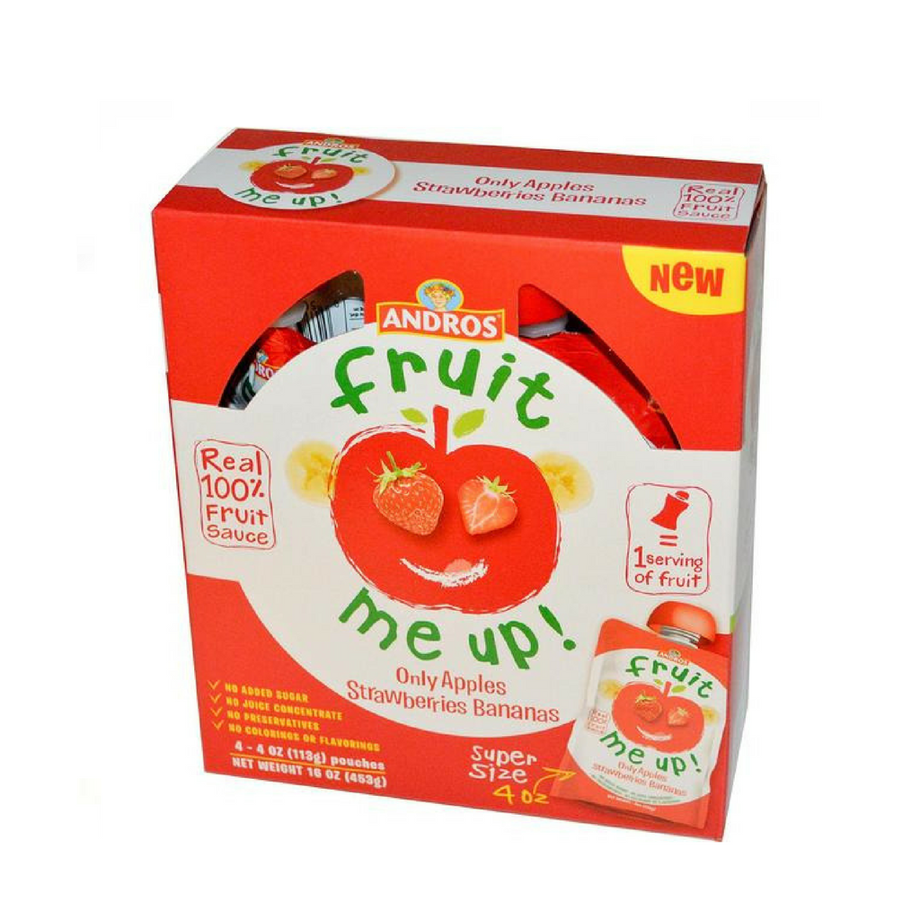 Andros Fruit Me Up · Apple, Strawberry, Banana, 4 pack
