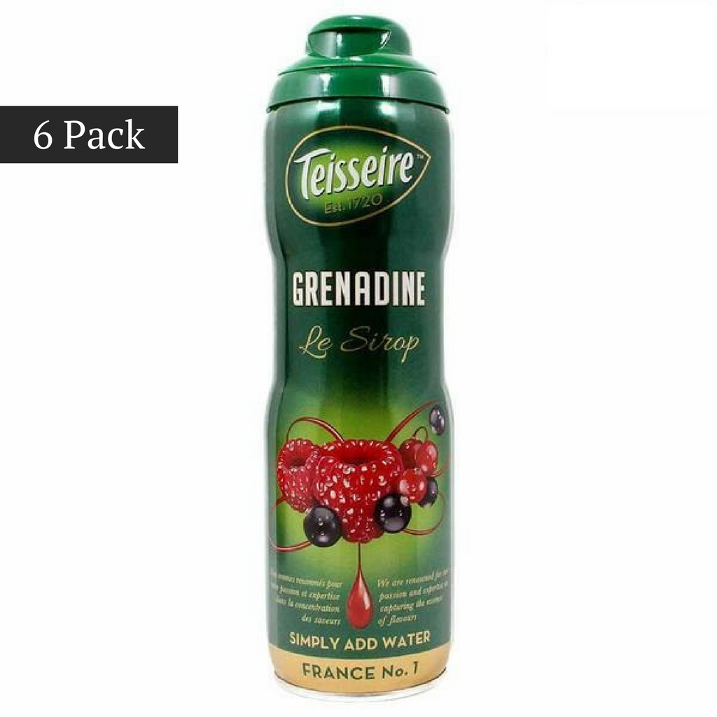 (6 PACK) Teisseire French Grenadine Syrup (20 oz. x 6)