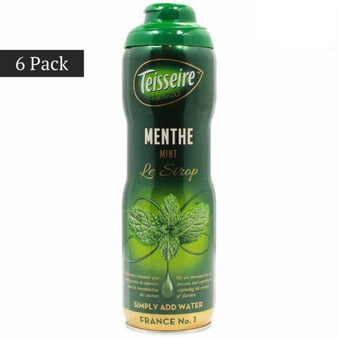 (6 PACK) Teisseire French Mint Syrup (20 oz. x 6)