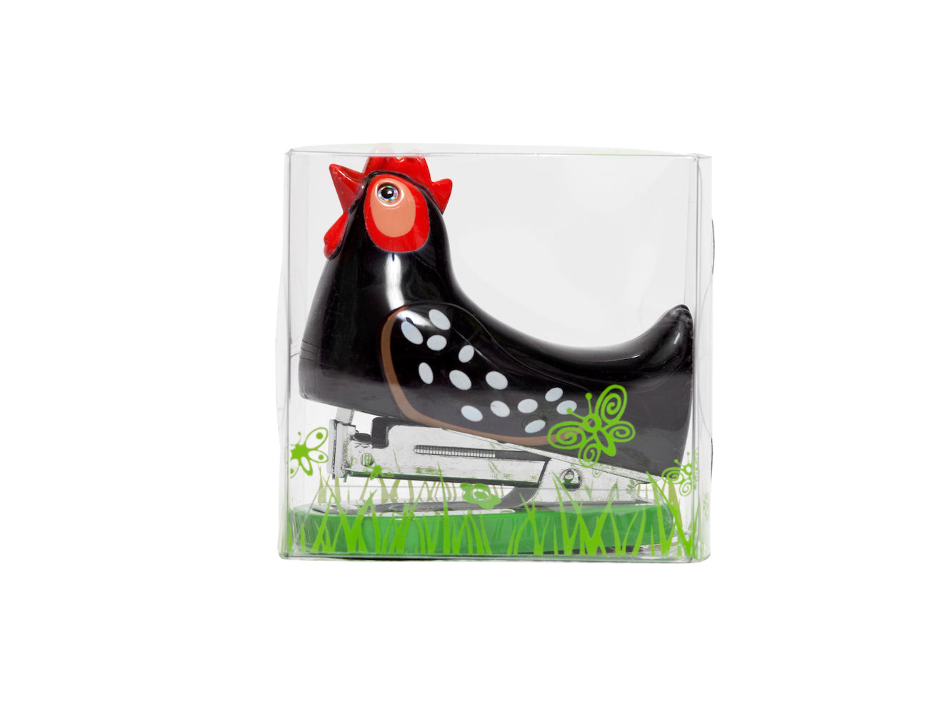 Mini Stapler - Black Hen