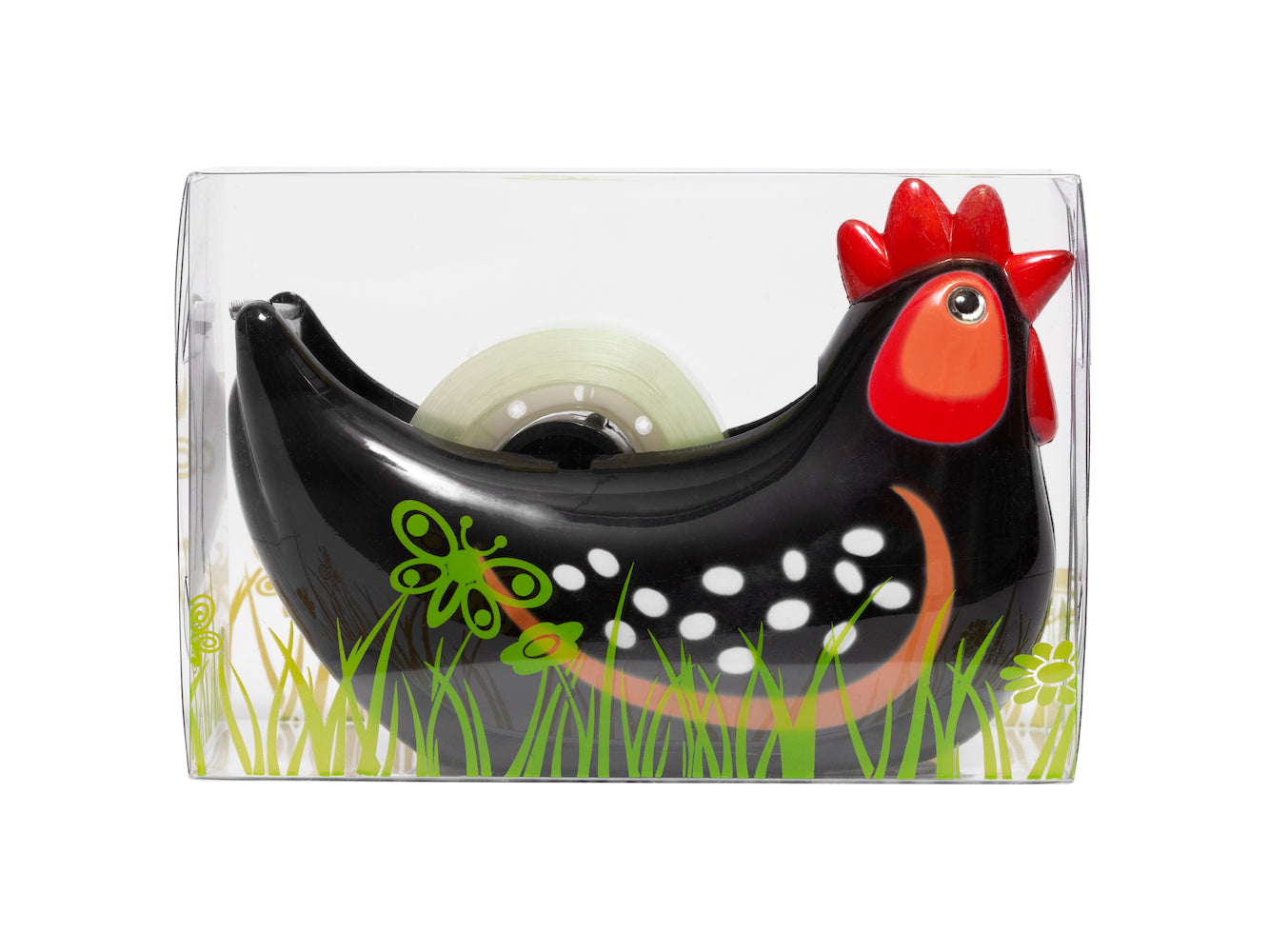 Tape Dispenser - Black Hen