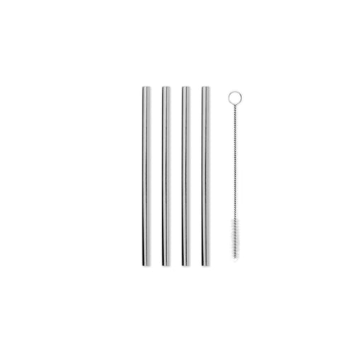 Porter Metal Straws - 12.7 cm - Set of 4 - Silver