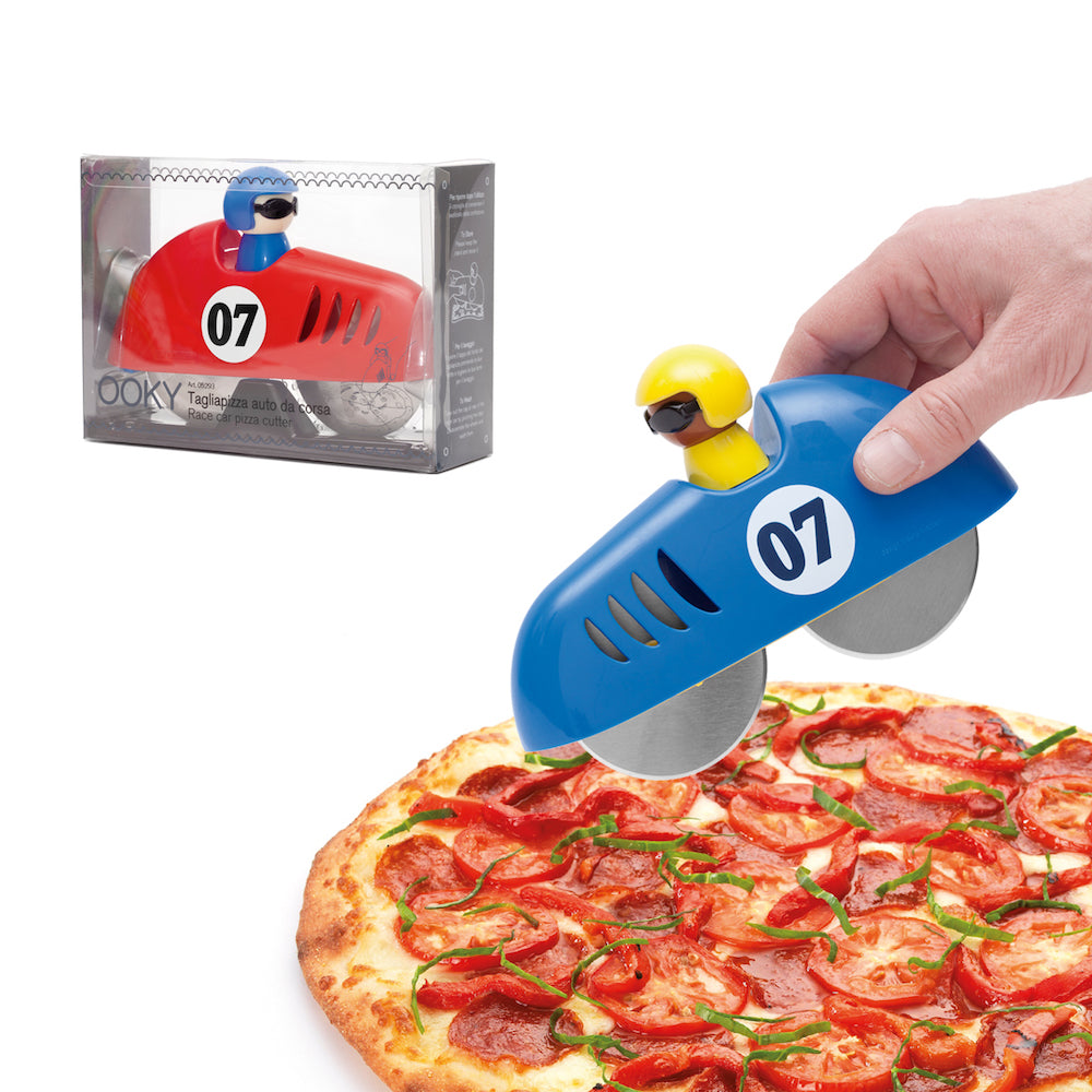 Pizza Cutter - Race Car - Mixed Colors