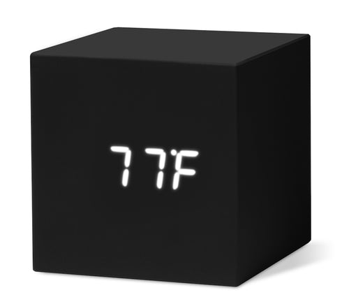 Color Cube Clock - Black