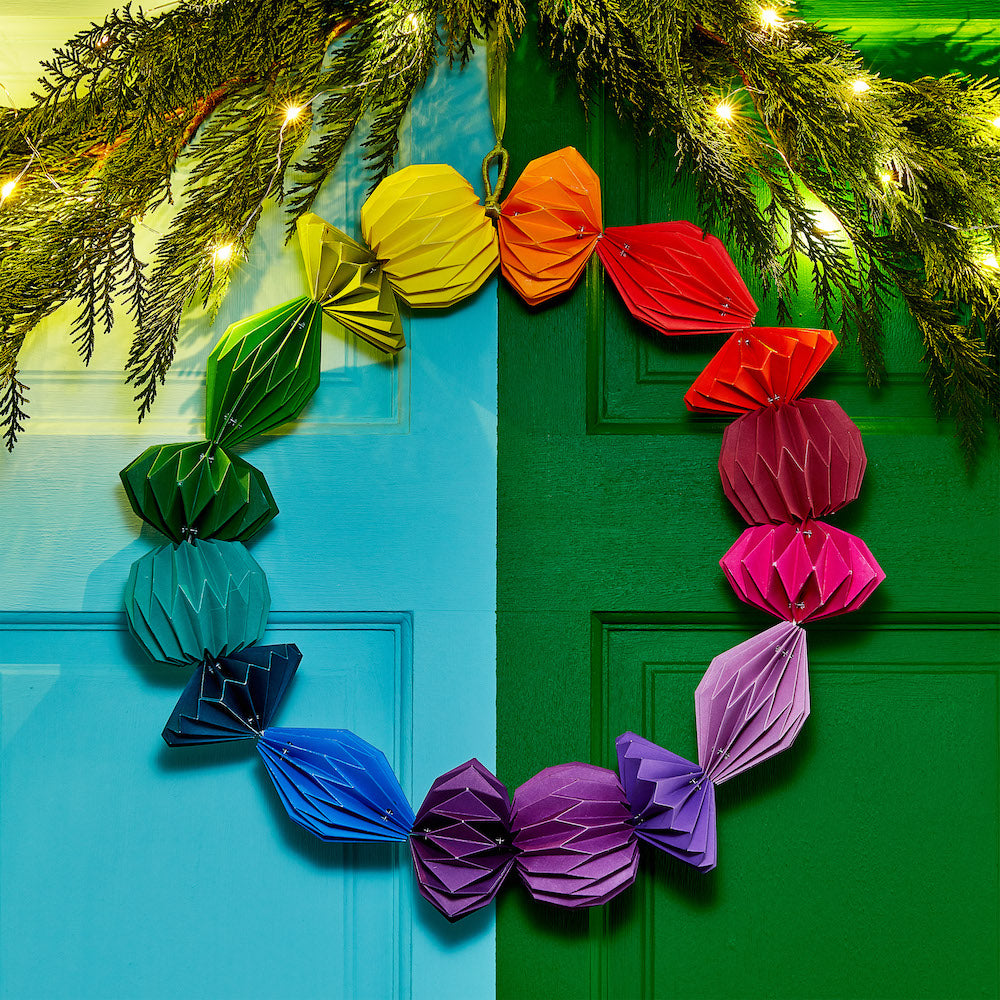 Geometric Paper Wreath
