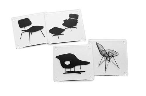 Eames Chair Coasters - Set of 4